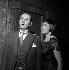 """""""Franck V"""". Jean Rochefort et Catherine Sauvage. Paris (XVIIIème arr.), théâtre de l'Atelier, décembre 1962. © Studio Lipnitzki/Roger-Viollet"""
