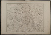 M.P. Beck, M. Bouvard and Louis Wuhrer, engraver. Atlas of the 20 arrondissements of Paris made by M. P. Beck following M. Bouvard's direction. 1st arrondissement of the Louvre. 2nd arrondissement of the Bourse (Paris Stock Exchange). Engraved plan, 1900. Bibliothèque historique de la Ville de Paris. © BHVP / Roger-Viollet