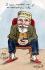 """""""Le repos perpétuel, moi je ne connais que cela"""". Caricature sur Emile Loubet (1838-1929), homme d'Etat français. Carte postale humoristique, après 1903.. © Roger-Viollet"""