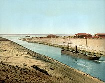 Entrance of the Timsah Lake. Suez Canal (Egypt), circa 1880-1890. © Roger-Viollet