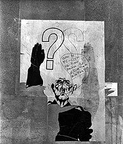 Events of May-June 1968. Anti-Gaullist poster. © Roger-Viollet