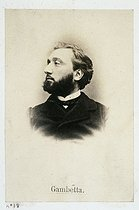 Visiting card of Léon Gambetta (1838-1882), French politician and lawyer. Plate 18 from the album of the French Commune, 1871. Paris, musée Carnavalet. © Musée Carnavalet/Roger-Viollet