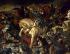 """Eugène Delacroix (1798-1863). """"La bataille de Taillebourg, le 21 juillet 1242, gagnée par Saint Louis (1214-1270), roi de France"""", détail. Galerie des Batailles, musée de Versailles.   © Roger-Viollet"""