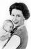 La reine Elisabeth II et le prince Andrew. Londres (Angleterre), Buckingham Palace, 1960.  © Cecil Beaton/TopFoto/Roger-Viollet