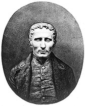 Louis Braille (1809-1852), French professor and organist, inventor of a writing system for the blind. © Jacques Boyer/Roger-Viollet