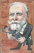 Dreyfus affair. Emile Loubet (1838-1929), President of the French Republic, who thinks he should have made a new ministry. France, circa 1900. Satirical cartoon. © Roger-Viollet