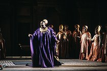 """Dido and Aeneas"", opera by Henry Purcell. Direction: Nicolas Joel. Conductor: Jean-Claude Casadesus. Jessye Norman. Paris, Opéra-comique, March 1984.  © Colette Masson / Roger-Viollet"