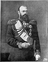 Alexandre III (1845-1894), tsar of Russia from 1881 to his death. © Roger-Viollet