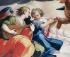"""Giovan Battista Trotti (Malosso, 1559-1619). """"Concession de l'indulgence de la Portioncule"""". Détail de la partie supérieure gauche, 1598. Manerbio (Italie), église paroissiale de Saint-Laurent. © Alinari/Roger-Viollet"""