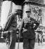 World War II. Liberation of Paris. General Leclerc and Colonel de Langlade, at the Arc de Triomphe. Paris, August 1944. © Albert Harlingue/Roger-Viollet