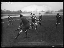 World War One. Rugby game between New Zealanders and the French army. Paris, Parc des Princes stadium, on February 17, 1918. © Excelsior – L'Equipe/Roger-Viollet