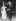 Mariage d'Edith Piaf et Jacques Pills. Derrière Edith Piaf : Louis Barrier son impressario et (en partie cachée) Marlène Dietrich, leurs témoins. France, 1953. © Roger-Viollet