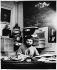 Fernando Arrabal (born in 1932), Spanish writer and director, at home. Paris, 1978. © Bruno de Monès / Roger-Viollet