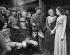 "Scène du film d'Alfred Hitchcock : ""L'Auberge de la Jamaïque"" avec Charles Laughton, Maureen O'Hara, Robert Newton, Leslie Banks... 1939. © Roger-Viollet"
