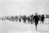 Intervention américaine au Mexique. Exode des habitants mexicains sur la zone frontalière. 1913-1914.      © Albert Harlingue/Roger-Viollet