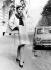 Collection automne/hiver Givenchy. Ensemble en soie rose. 1er septembre 1966. © TopFoto / Roger-Viollet