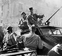 World War II. General Philippe Leclerc (1902-1947), at the time of the Liberation of Paris, August 1944. © Roger-Viollet