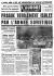 """Prague totalement isolée par l'armée soviétique"" (Prague totally isolated by the Soviet army). Article about the invasion of Czechoslovakia by Soviet citizens. ""L'Aurore"", on August 27, 1968. © Roger-Viollet"