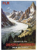 Poster of the PLM, French railway company from Paris to Lyons and the Mediterranean. Chamonix (Haute-Savoie), early 20th century. © Roger-Viollet