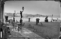 Overview of the beach. Biarritz (France), circa 1900. © Neurdein/Roger-Viollet