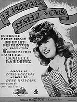 "Score of the song ""Premier rendez-vous"" (First date), performed by Danielle Darrieux in the film by Henri Decoin. 1941. © Roger-Viollet"
