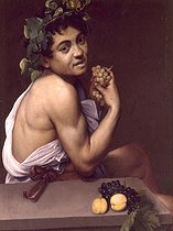 """Bacchus ill"", by Caravaggio (1571-1610). Rome, Borghese gallery. © Roger-Viollet"