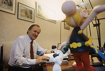 Albert Uderzo (born in 1927), French comic book artist and scriptwriter, 1994. © Jean-Pierre Couderc/Roger-Viollet