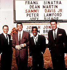 Quatre des cinq membres de The Rat Pack : Frank Sinatra, Dean Martin, Sammy Davis Jr. et Peter Lawford, réunis pour les célébrations du Nouvel An à Las Vegas (Nevada, Etats-Unis), vers 1960. © TopFoto / Roger-Viollet