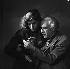 Abel Gance (1889-1981), French director, and Nelly Kaplan (born in 1936), Argentinian-born French writer and director. Paris, November 1956. © Boris Lipnitzki/Roger-Viollet