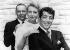 """Tournage de """"Marriage on the Rocks"""", film de Jack Donohue. Frank Sinatra (1915-1998), acteur et chanteur américain, Deborah Kerr (1921-2007), actrice anglaise, et Dean Martin (1917-1995), acteur et chanteur américain. Etats-Unis, 2 août 1965. © TopFoto/Roger-Viollet"""