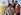 The Rat Pack : Frank Sinatra, Dean Martin, Sammy Davis Jr., Peter Lawford et Joey Bishop, acteurs et chanteurs américains, réunis pour les célébrations du Nouvel An à Las Vegas (Nevada, Etats-Unis), vers 1960. © TopFoto/Roger-Viollet