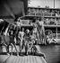 """La Fête de l'Eau"" (beachwears contest and entertainment) at the Molitor swimming pool. Presentation of beachwears. Paris, July 1946. © Boris Lipnitzki/Roger-Viollet"