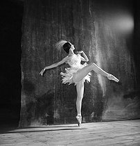 """L'Aigrette"". Grand Ballet by the Marquis de Cuevas. Rosella Hightower. © Boris Lipnitzki / Roger-Viollet"