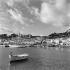 Le port de Soller sur l'île de Majorque. Iles Baléares (Espagne), janvier 1957. © Hélène Roger-Viollet/Roger-Viollet