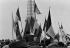 "Events of May-June 1968. Rally supporting President Charles de Gaulle, organized by the""Union des jeunes pour le progrès"", political movement gathering the young supporters of Chales de Gaulle, on the place du Trocadéro. Paris (XVIth arrondissement), on June 4, 1968. Photograph by Bernard Charlet, from the collections of the newspaper ""France-Soir"". Bibliothèque historique de la Ville de Paris. © Bernard Charlet / Fonds France-Soir / BHVP / Roger-Viollet"