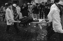 "Events of May-June 1968. Demonstrations after the evacuation of the Sorbonne university. Wounded demonstrator carried on a strecher, boulevard Saint-Michel. Paris (Vth arrondissement), on June 16, 1968. Photograph by Michel Pansu, from the collections of the French newspaper ""France-Soir"". Bibliothèque historique de la Ville de Paris. © Michel Pansu / Fonds France-Soir / BHVP / Roger-Viollet"