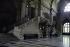 """Quai de l'Horloge, quai des Orfèvres. """"Palais de justice. Intérieur. """"Salle des pas perdus"""" : escalier monumental"""". Paris (Ier arr.). Photographie d'André Bondil (1918-2009). Diapositive. 24 mai 1991. Paris, bibliothèque de l'Hôtel de Ville. Paris, bibliothèque de l'Hôtel de Ville. © André Bondil / BHdV / Roger-Viollet"""