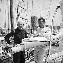 "Eric Tabarly (1931-1998), French sailor, on the deck of his boat ""Pen Duick III"". La Trinité-sur-Mer (France), 1968. © Jacques Cuinières / Roger-Viollet"