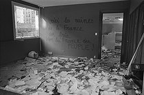 "Lawsuit of Le Bris and Le Dantec, directors of the French communist newspaper ""La Cause du Peuple"", and dissolution of the Proletarian Left. Paris, after May 28, 1970. © Jacques Cuinières / Roger-Viollet"