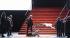 """Boris Godounov"", three-act opera by Modest Petrovich Mussorgsky. Conductor : Vladimir Jurowski. Direction : Ivo Van Hove. Stage design and lights : Jan Versweyveld. Orchestra and chorus : Opéra National de Paris. Alexander Tsymbalyuk, Ain Anger, Boris Pinkhasovich, Dmitry Golovnin and Evdokia Malevskaya. Paris, Opéra Bastille, on June 1st, 2018. © Colette Masson / Roger-Viollet"