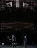 """""""Boris Godounov"""", opéra en trois actes de Modeste Petrovitch Moussorgski sous la direction musicale de Vladimir Jurowski. Livret de Modeste Petrovitch Moussorgski. Mise en scène : Ivo Van Hove. Décors et lumières : Jan Versweyveld. Orchestre et choeur : Opéra National de Paris. Interprètes : Dmitry Golovnin (Grigori Otrepiev), Evgeny Nikitin (Varlaam), Elena Manistina (L'aubergiste), Peter Bronder (Missaïl). Nouvelle production. Paris, Opéra Bastille, 1er juin 2018. © Colette Masson / Roger-Viollet"""