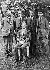 Rassemblement de physiciens : Carl Wilhelm Oseen, physicien suédois, Niels Bohr, physicien danois, Max Born, physicien allemand, James Franck et Oskar Klein, physiciens allemands. Göttingen (Allemagne), 1921. © Ullstein Bild / Roger-Viollet