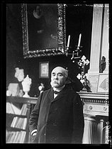 "Georges Clemenceau (1841-1929), French statesman, at the age of 69, at his place. France, on January 16, 1920. Photograph from the collections of the newspaper ""Excelsior"". © Excelsior – L'Equipe / Roger-Viollet"