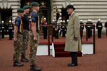pa-news-20170802-160103-royal_duke_155840.jpg. Hannah McKay. Duke of Edinburgh's final public engagement. The Duke of Edinburgh attends the Captain General's Parade at his final individual public engagement, at Buckingham Palace in London. 20170802. © Hannah McKay/MCKAY HANNAH / PA Archive / Roger-Viollet