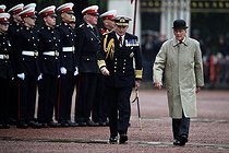 pa-news-old-20170802-155905-royalduke155899.jpg. Hannah McKay. Duke of Edinburgh's final public engagement. The Duke of Edinburgh attends the Captain General's Parade at his final individual public engagement, at Buckingham Palace in London. 20170802. © Hannah McKay/MCKAY HANNAH / PA Archive / Roger-Viollet