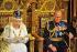 La reine Elisabeth II (née en 1926) et son époux, le prince Philip (né en 1921), lors de la cérémonie d'ouverture du Parlement à la Chambre des Lords. Londres (Royaume-Uni), palais de Westminster, 4 juin 2014. Photo : Ray Collins. © Ray Collins / PA Archive / Roger-Viollet
