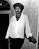 Aretha Franklin (1942-2018), auteur-compositeur et interprète américaine, lors de la présentation d'un documentaire la concernant sur la BBC. Royaume-Uni, 9 juin 1987. © TopFoto / Roger-Viollet
