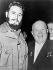 Fidel Castro (1926-2016), homme d'Etat et révolutionnaire cubain, et Nikita Khrouchtchev (1894-1971), homme d'Etat soviétique, lors d'une assemblée générale des Nations Unies. Genève (Suisse), 1960. © The Image Works / Roger-Viollet