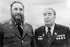 Fidel Castro (1926-2016), homme d'Etat et révolutionnaire cubain, et Léonid Brejnev (1906-1982), homme d'Etat soviétique, lors d'une conférence du parti communiste, 26 février 1981. © Ullstein Bild / Roger-Viollet