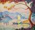 """Paul Signac (1863-1935). """"Antibes. Petit Port de Bacon"""". Huile sur toile, 1917. Collection privée. © TopFoto / Roger-Viollet"""